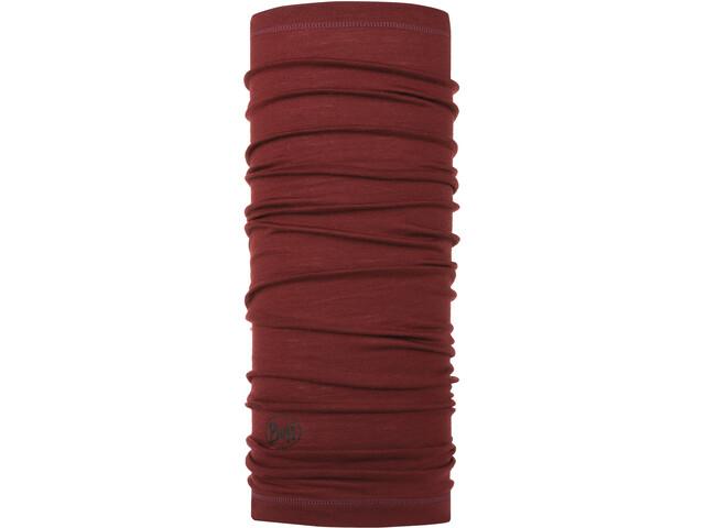 Buff Lightweight Merino Wool Loop Sjaal, solid wine